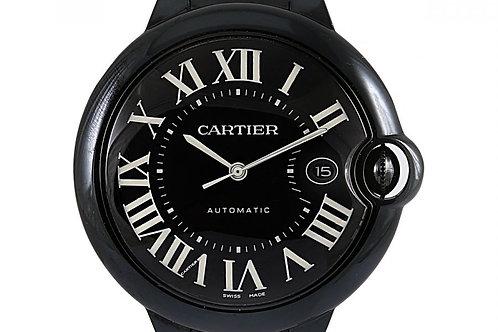 Cartier Ballon Bleu Black Dial Steel PVD 42mm