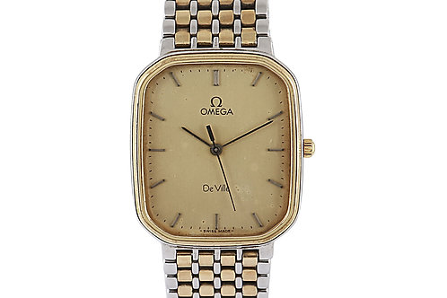 Omega De Ville Vintage Champagne Dial 27.1mm X 31mm Steel & Yellow Gold Plated