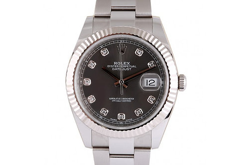 Rolex Datejust 41 Grey Diamond Dial Steel & White Gold