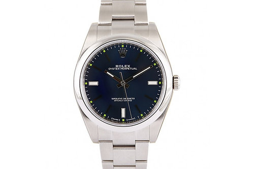 Rolex Oyster Perpetual Blue Dial 39mm Steel