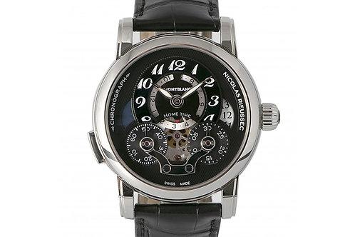 Montblanc Nicolas Rieussec Chronograph Black Dial 43mm Steel
