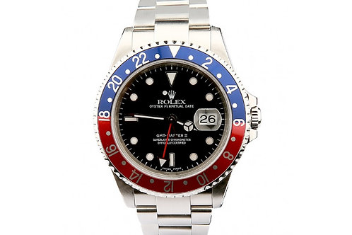Rolex GMT Master II Pepsi Cola 40mm Steel & Blue-Red Bezel