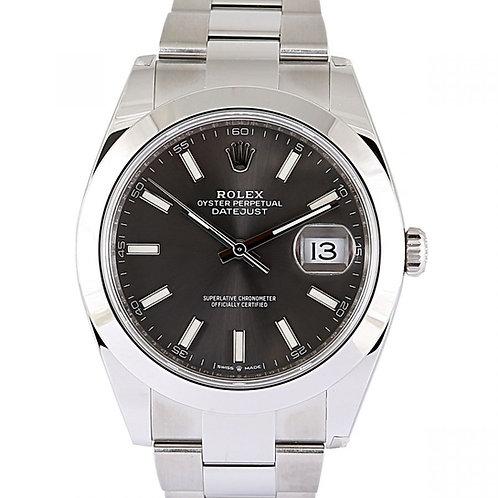 Rolex Datejust 41mm Grey Dial Steel