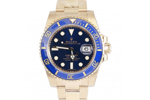 Rolex Submariner Blue Dial 40mm Yellow Gold
