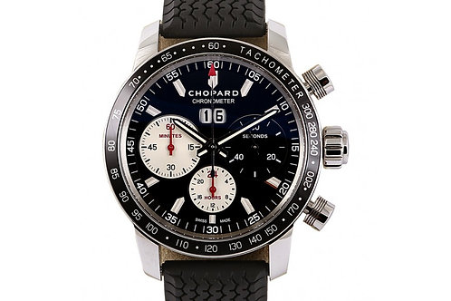 Chopard Jacky Ickx Edition V Chronograph Mille Miglia Black Dial 42mm Steel