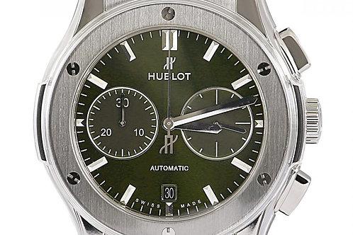 Hublot Classic Fusion Chronograph Green Dial 45mm Titanium