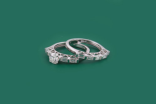 Solitaire Twin Diamond Ring