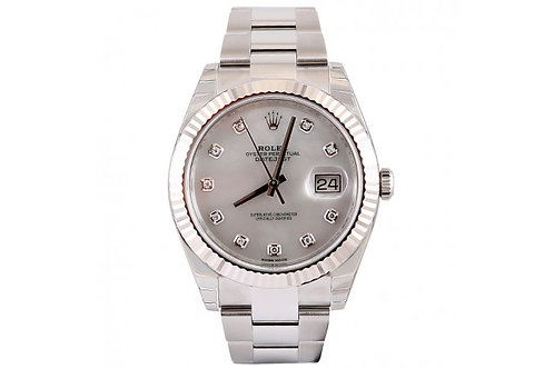 Rolex Oyster Perpetual 41mm Stainless Steel, White Gold & Diamonds