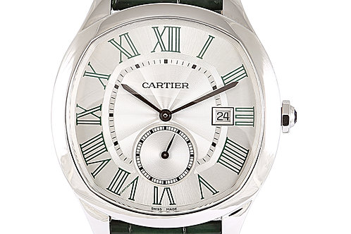 Cartier Drive De Middle East Exclusive Green Leather Strap Steel Case 41mm