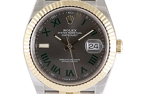Rolex Datejust 41mm Steel & Yellow Gold Wimbledon Dial Jubilee Bracelet