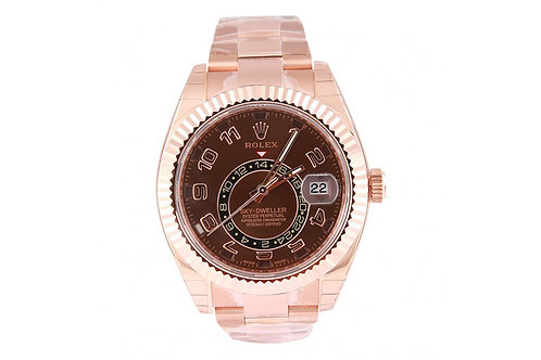 Rolex Sky-Dwelller Chocolate Dial 42mm Rose Gold