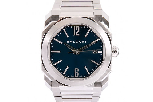 Bvlgari Octo Solotempo Blue Dial 38mm Steel