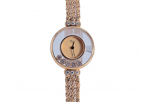 Chopard Happy Diamonds Champagne Dial 21mm Yellow Gold & Diamonds