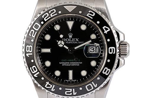 Rolex GMT Master 2 Black Dial Steel 40mm