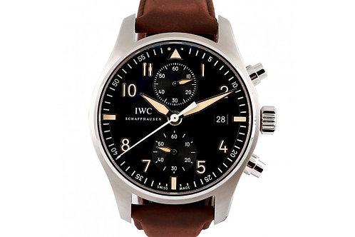 IWC Pilot Chronograph Black Dial 43mm Steel