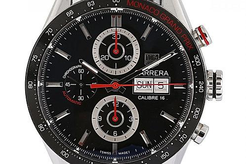 Tag Heuer Carrera Calibre 16 Monaco Grand Prix Black Dial 43mm Steel