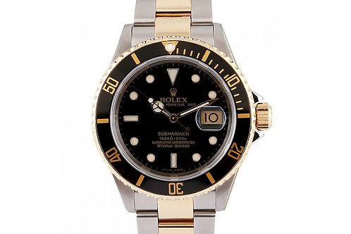 Rolex Submariner Black Dial 40mm Steel & Yellow Gold