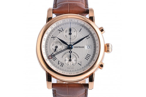 MontBlanc Star Chronograph Silver Dial 42mm Rose Gold
