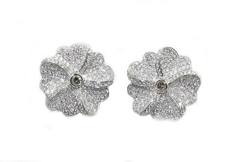 Flower Diamond Earring