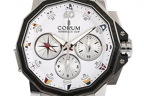 Corum Admiral's Cup Challenge Chronograph White Dial 48mm Steel