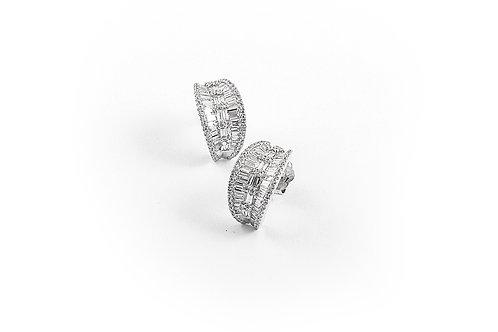 Designer Baguette Diamond Earrings