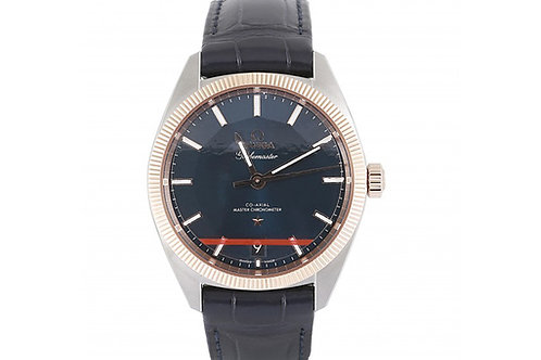 Omega Constellation Globemaster Co-Axial Chronometer Blue Dial 39mm Steel & Rose