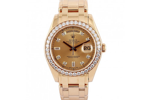 Rolex Day-Date Champagne Diamond Dial 39mm Yellow Gold & Diamonds