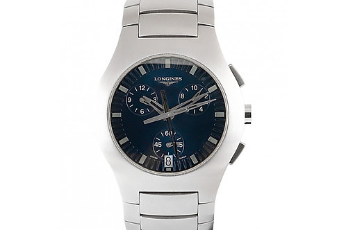 Longines Opposition Chronograph Blue Dial 38mm Steel