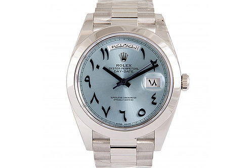 Rolex Day-Date Ice Blue Dial 41mm Platinum