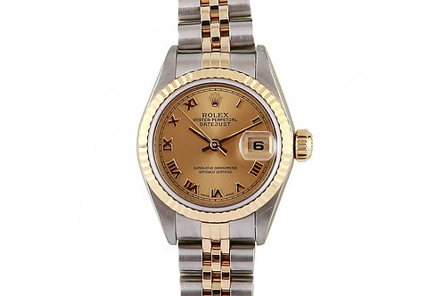 Rolex Datejust Champagne Roman Dial 26mm Steel & Yellow Gold