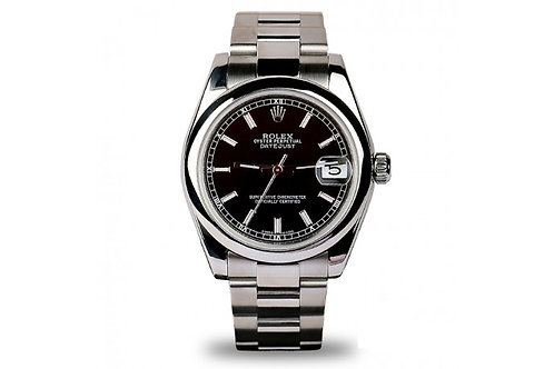 Rolex Datejust 31mm Steel with Black Dial