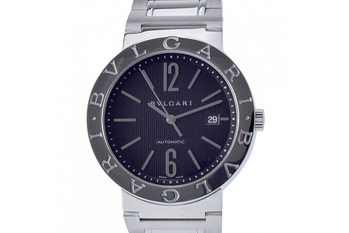 Bvlgari Diagono Black Dial 42mm Steel