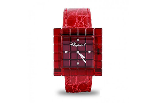 Chopard Ice Cube Red Resin Be Mad Steel
