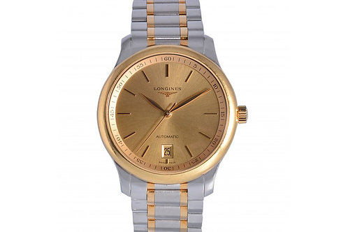 Longines Master Collection Date Champagne Dial 38.5mm Yellow Gold & Steel