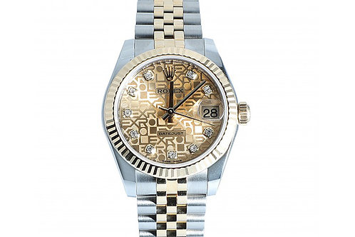 Rolex Datejust Champagne Jubilee Dial With Diamonds 31mm Steel & Yellow Gold