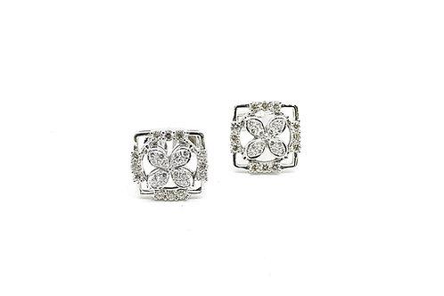 White Gold and Diamond Cufflinks