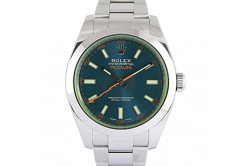 Rolex Milgauss Blue Dial 40mm Steel