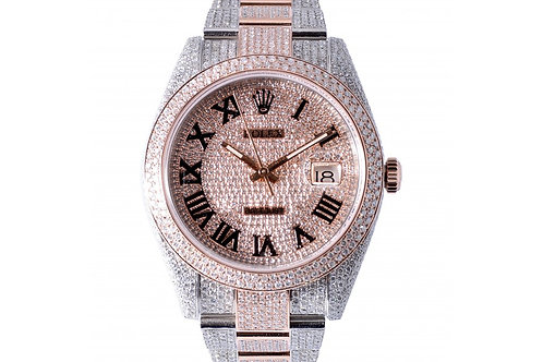 Rolex Datejust Champagne Dial With Diamonds 41mm Steel, Rose Gold & Diamonds