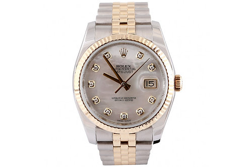 Rolex Datejust 36mm Mother of Pearl 36mm Steel & Yellow Gold