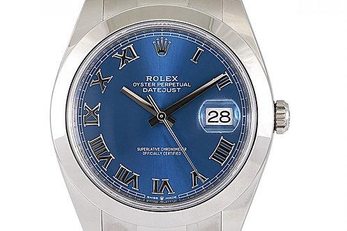 Rolex Datejust Blue Dial 41mm Steel