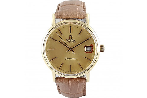 Omega Seamaster Vintage Champagne Dial 34mm Yellow Gold