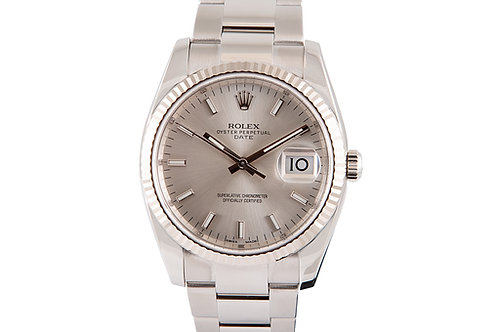 Rolex Oyster Perpetual Date 34mm Steel with Silver Dial