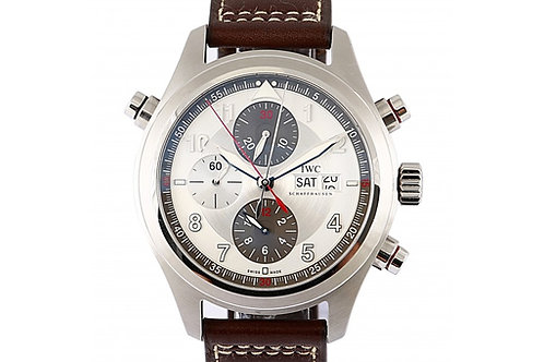 IWC Spitfire Double Chronograph Silver Dial 44mm Steel