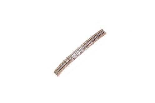 Tri-Color Diamond Tennis Bracelet