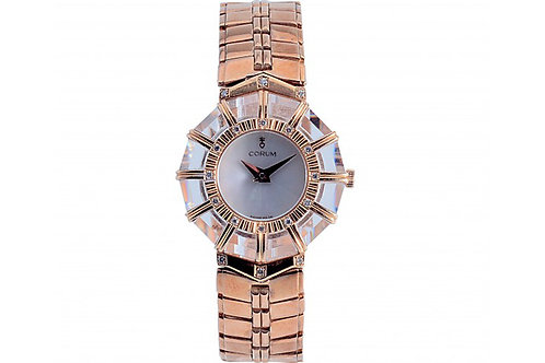 Corum Mother of Pearl Dial 28mm Yellow Gold & Diamonds
