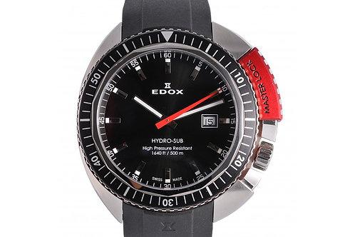 Edox Hydro-Sub Black Dial 46mm Steel