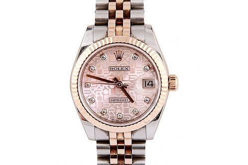 Rolex Datejust Pink Jubilee Diamond Dial 31mm Steel & Rose Gold