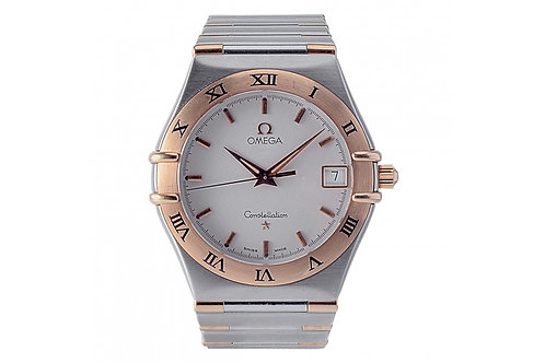 Omega Constellation White Dial 33mm Steel & Yellow Gold