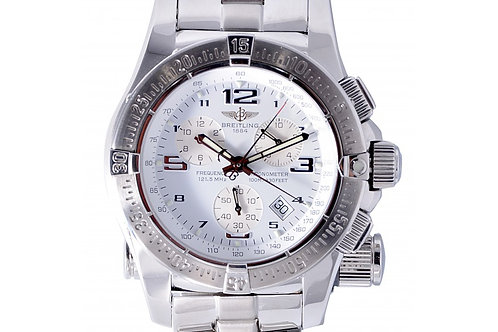 Breitling Emergency Mission Chronograph White Dial 45mm Steel