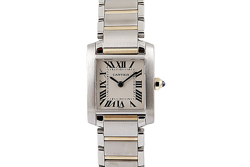Cartier Tank Française Lady Steel and Gold 2384 20 x 25mm